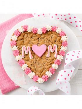 Mom Heart Cookie Cake