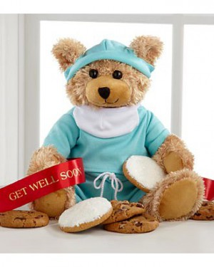 Mrs. Fields Get Well Scrubs Bear