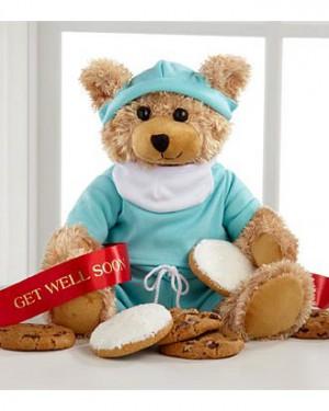 Mrs. Fields Get Well Scrubs Bear
