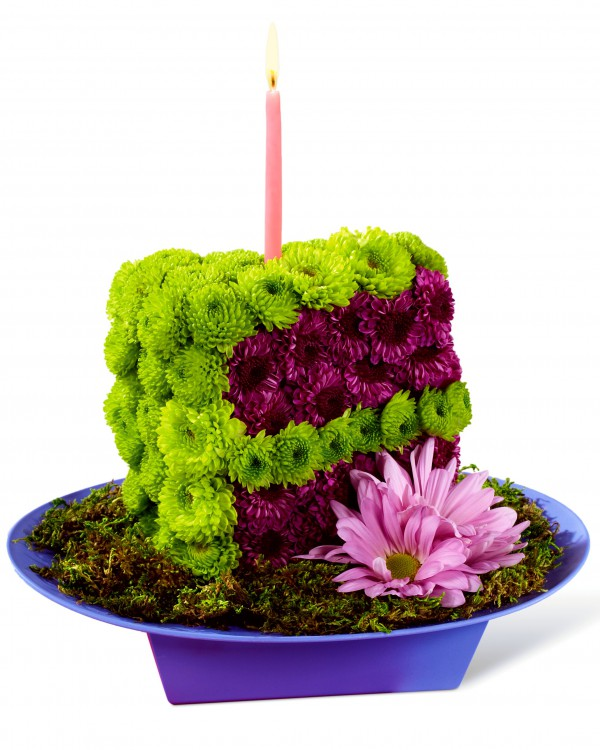 Wondrous Festive Wishes Floral Cake Slice Birthday Flowers Today Flower Personalised Birthday Cards Veneteletsinfo
