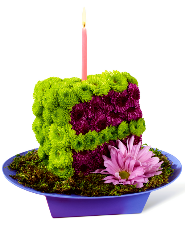 The Festive Wishes Floral Cake Slice